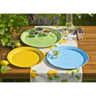 Faux Ceramic Serving Tray, Set of 3 Serve, decorate and arrange – all with Mediterranean charm.