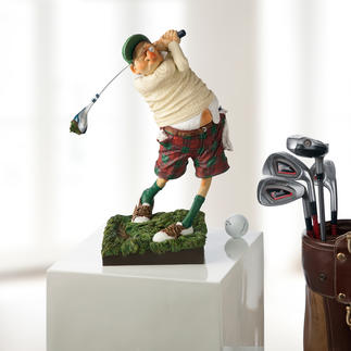 "Forchino Figurine ""Golfer"" The passion for golf depicted in comical art."