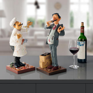 Forchino Figurine The Cook or The Winetaster Professional life portrayed with a pinch of irony and lovingly captured in an exaggerated manner.
