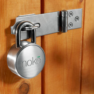 Bluetooth Padlock Nokē No key. No numerical code. Easy to unlock with your smartphone via Bluetooth.