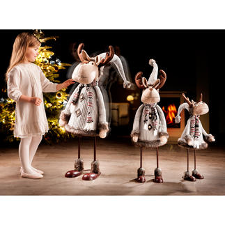 """Rudi"" The Dancing Reindeer An eye-catcher for the hallway, living room, conservatory, ...Tastefully dressed – matches every interior."