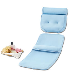 Bathing Comfort Set, Pillow + Mat Comfortably padded and permeable to water. Gentle support for head, neck, shoulders, back, buttocks etc.