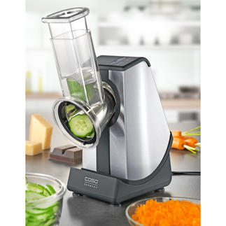Caso Electric Grater Now you can grate, slice and grind electrically - quick and easy. Touch control operation.