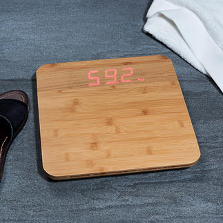 "Designer Bathroom Scales ""Bamboo"" Made from trendy warm bamboo wood instead of metal or glass."