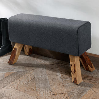 Vaulting Horse Bench A piece of classic sports equipment turned into on-trend seating or occasional furniture.