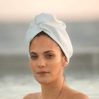 Aquitex® Hair Turban Dries your hair faster than a cotton towel. Much gentler than hot air. Ideal for the sauna, spa, beauty salon.