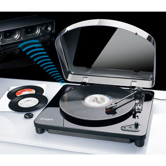 AirLP Bluetooth/USB Record Player Finally: Enjoy your old and new vinyl records wirelessly – anywhere.