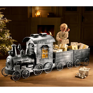 Nostalgic Locomotive or Carriage Made from antiqued aluminium. Perfect for Christmas, parties or as year-round decoration.