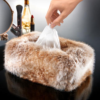Faux Fur Tissue Box Cover A luxurious cover instead of plain cardboard.