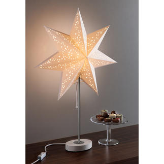 Dual Lamp Classic or swathed in festive stars: The lamp with two looks. Wonderfully versatile.