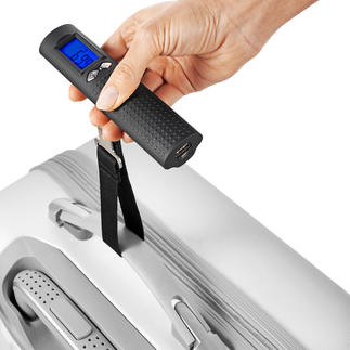 Digital Battery-Powered Luggage Scales Digital luggage scales, power bank and torch – only 200g (7.1 oz).
