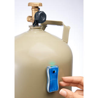 Gas Level Indicator Always close at hand: The accurate fill level indicator. Determines in seconds how much is left.