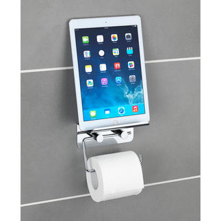 """Toilet Roll Holder """"Multimedia"""" The toilet roll holder for the multi-media age. Adhesive mounting avoids drilling."""