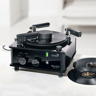 Record Cleaning Machine ­Mera ELB Eco 24V Cleans old and new vinyl records extremely thoroughly, but gently. For optimal sound.