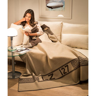 "Zoeppritz Zeppelin Blanket ""Hero"" Made from top quality merino wool and cashmere."