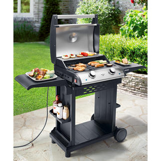2-Zone Electric Table Grill Huge 1,500cm² (323.5in²) grill surface with 2 temperature zones. Continuously adjustable up to 300°C.