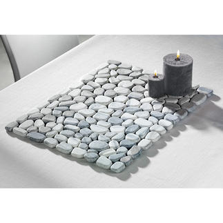 Marble Placemats On-trend interior marble: Also a showstopper outdoors.