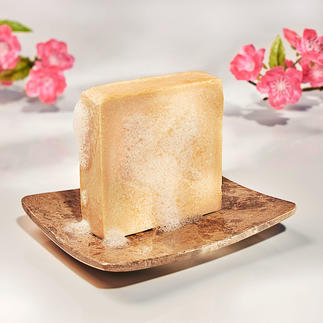 Milk Soap, Set of 2, 2 x 125 g As pampering as a luxurious milk bath. Handmade and 100% perfume free.