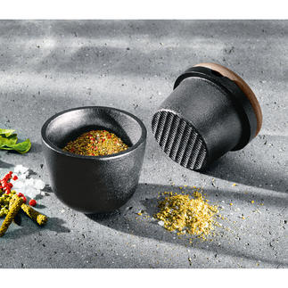 Skeppshult Wrought Iron Mortar & Pestle Solid cast iron crushes spices and herbs easily and precisely. Made from pure natural materials.