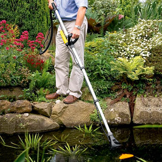 Pond Vacuum Cleaner Pond Vac Premium pond vacuum cleaner: Saves up to 30% in cleaning time and delivers up to 50% greater suction.