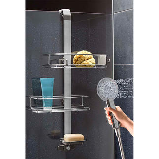 Adjustable Shower Caddy A clever design that fully adapts to your shower accessories.