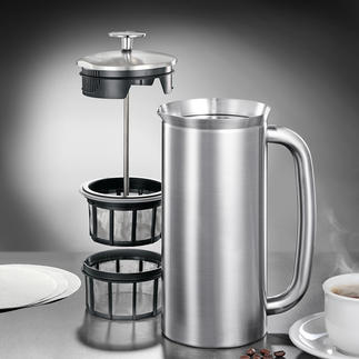 Espro® French press or French Press Thermal Cup Ingenious coffee maker with double microfilter system and insulated walls.