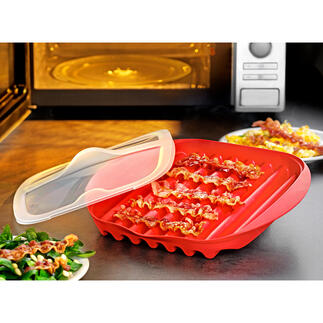 Microwavable Bacon Bowl Crispy bacon – quickly and easily like never before. No stove, no pan, no fat splashes.