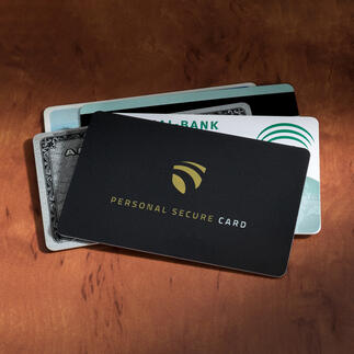 "RFID Secure Card Even at a distance of 3cm (1.2""), nobody can read your personal data."
