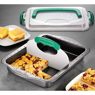 All-In-One Flat Cake Mould Baking, slicing, storing and transporting – in just one mould.