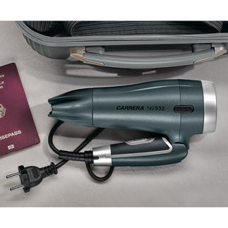 CARRERA Compact Hair Dryer No 532 All the high-tech features of large hair dryers. In featherweight compact format.