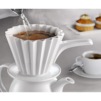 Thermo-Coffee Filter Keeps the brewing temperature more constant to extract the best coffee aromas. By KPM Berlin.