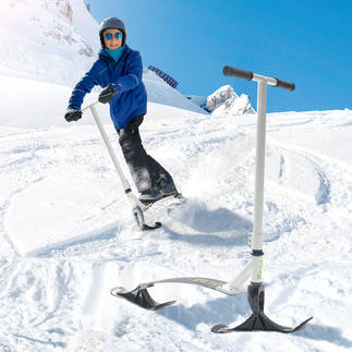 Stiga® Snow Kick Flex Like being on a scooter, you can slide down the ski or toboggan slopes standing up.