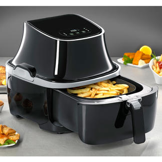 Caso Hot-Air Fryer AF 400 Ideal for low-fat and low-calorie meals. Also for large quantities.