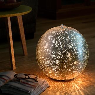 Oriental Globe Light Elegant and unique oriental splendour – made from elaborately hand-pierced metal.