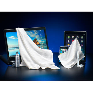 e-cloth® Screen Cleaning Pack, 4-piece Set Crystal clear and hygienically clean touchscreens in a single wipe.