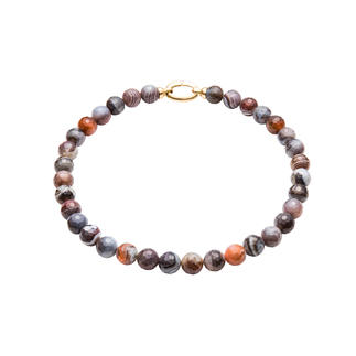 Botswana Agate Necklace or Bracelet Unique colour and texture. Still pleasantly affordable.