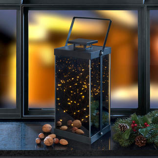 Lantern with Sparkling Stars Tiny LEDs inside create a fascinating sea of lights.