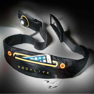 Bodylite LED Light Belt This elasticated Bodylite LED belt has a snug and comfortable fit.