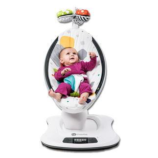 mamaRoo® 3D Baby Rocker Plays music and softly lulls your little darling to sleep at the push of a button.