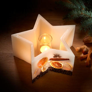 Star Lantern Candle Enjoy the warm glow of luxury candles, ... that never burn down.