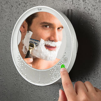 Anti-fog Bluetooth Mirror Fog-free shower and bath mirror, Bluetooth speaker and hands-free system.