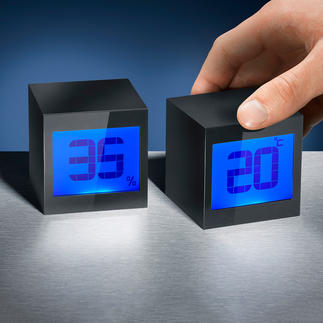 Magic Cube Clock Also an alarm clock, calendar and countdown timer.