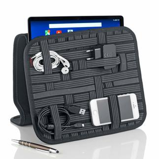 Tablet/Accessories Organiser No more hunting for cables, adapters, pens and business cards.