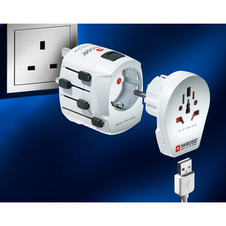 SKROSS® World Travel Adapter PRO World & USB One of the most powerful and most versatile travel adapters in the world.