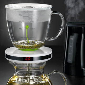 Tea Brewer with Automatic Infuser Intelligent infusion timer automatically brews a wide variety of teas with precision.