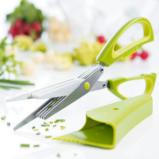 Five-Blade Herb Scissors With Holder Produce even, neat pieces – without loss of flavour.