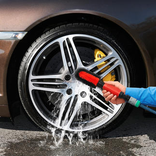 V2 Wheel Rim Brush with Water Connection Clean wheel rims: Ingeniously simple, thorough and fast.