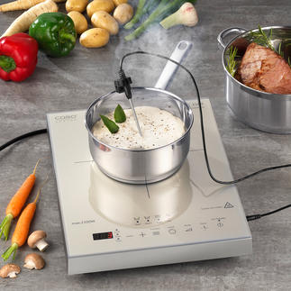 Caso Induction Hob Thermo-Control Cooks and roasts your dishes to the last degree.