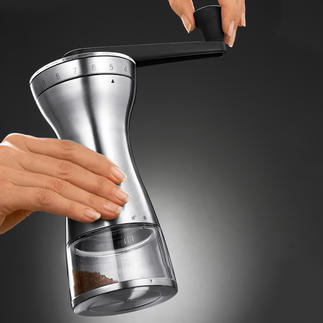 18-Step Manual Coffee Grinder Exactly the right grind for cafetière, espresso maker, filter ­machine, Turkish mocha, ...
