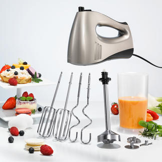Solis 2-in-1 Combi Mixer Ingenious combination: Hand mixer and hand blender in one. By Solis, Switzerland.
